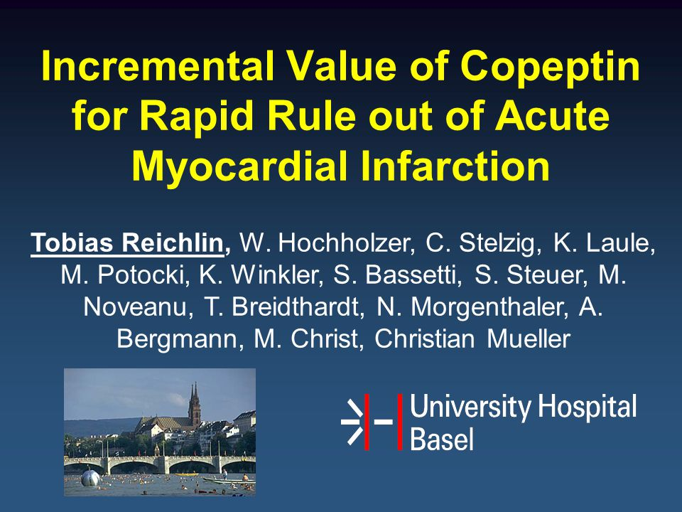 Incremental Value of Copeptin for Rapid Rule out of Acute Myocardial Infarction