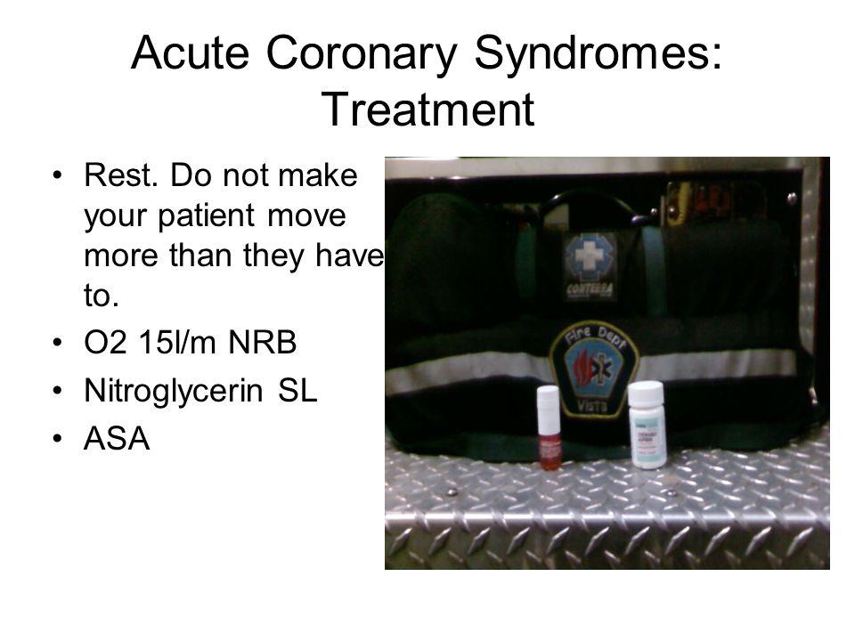 Acute Coronary Syndromes: Treatment