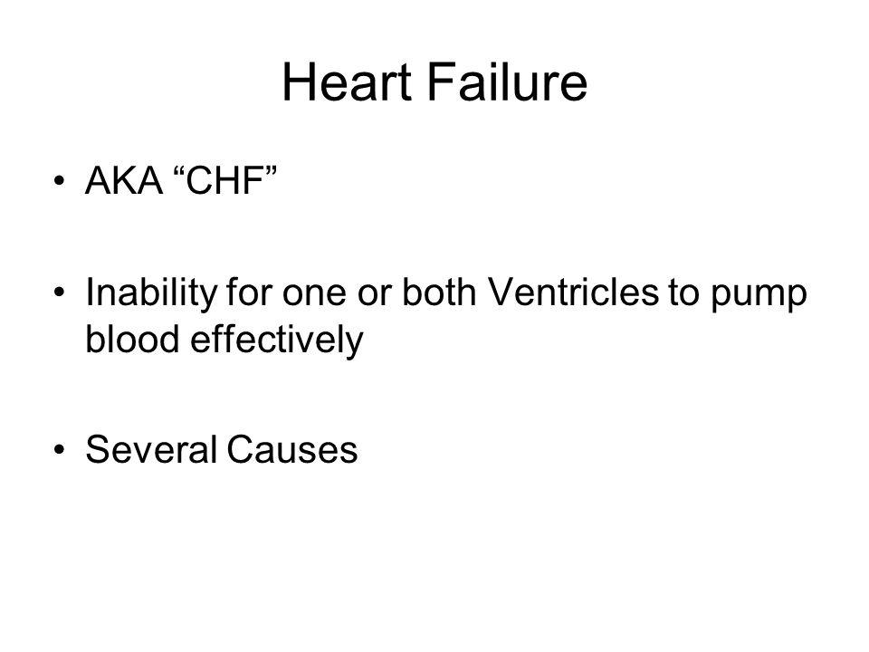 Heart Failure AKA CHF