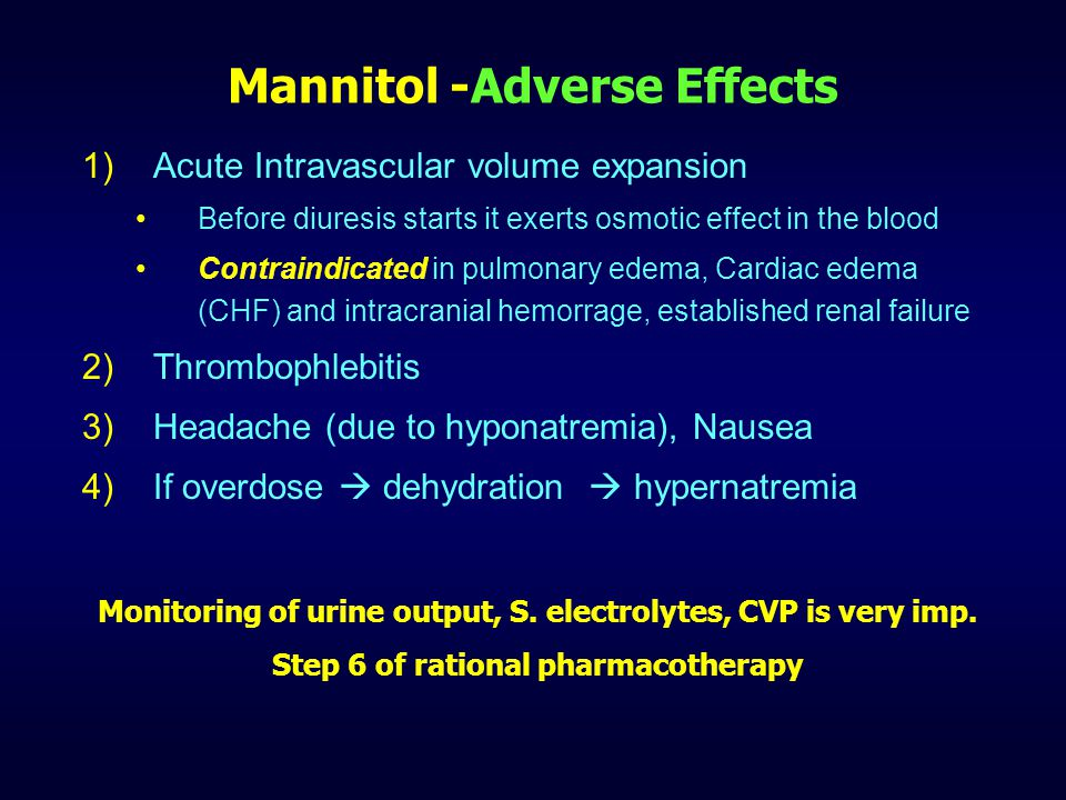 Mannitol -Adverse Effects