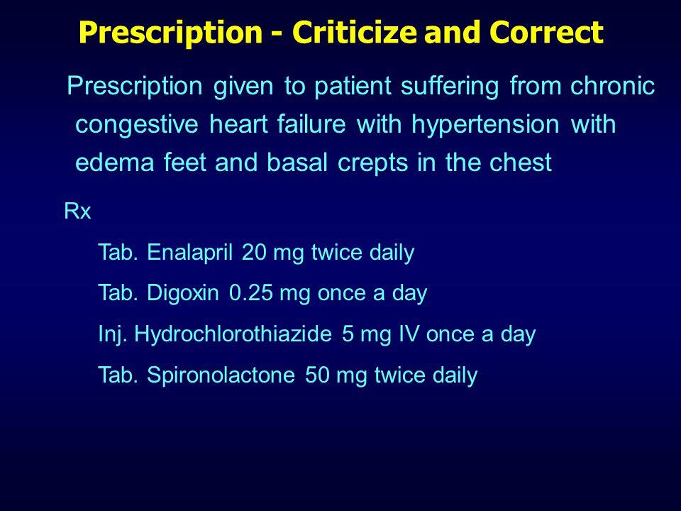 Prescription - Criticize and Correct