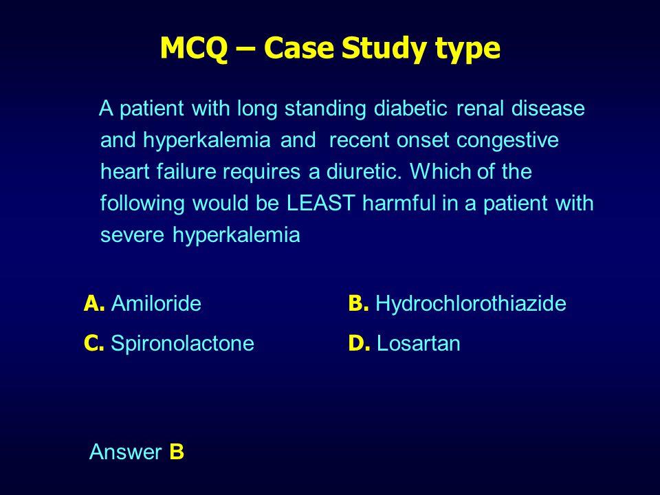 MCQ – Case Study type