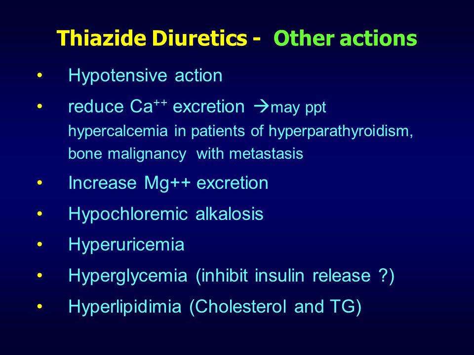 Thiazide Diuretics - Other actions