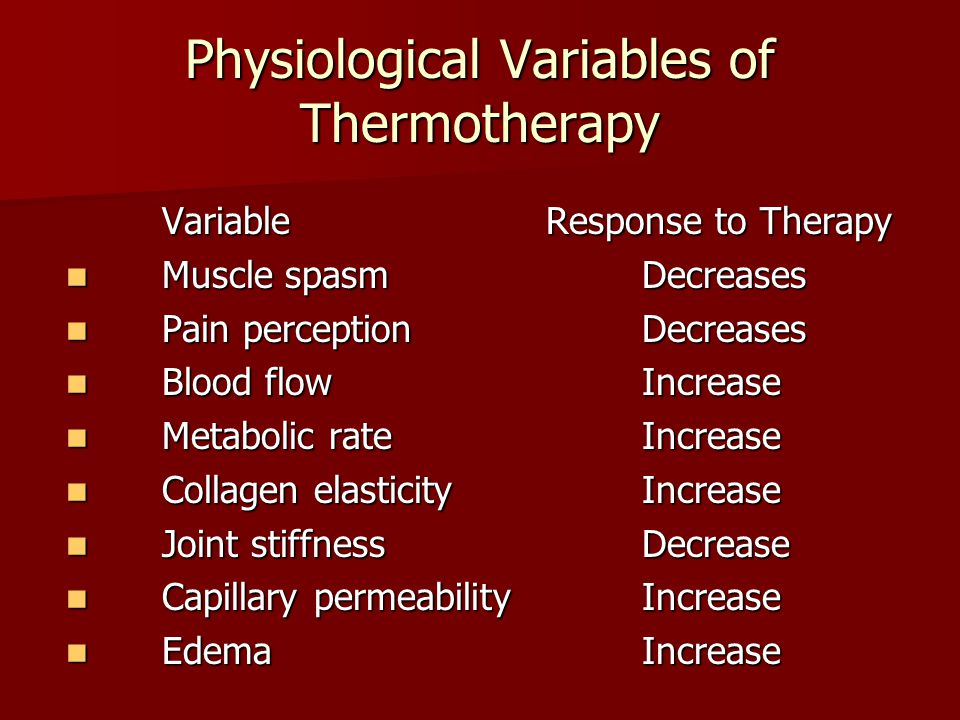Physiological Variables of Thermotherapy