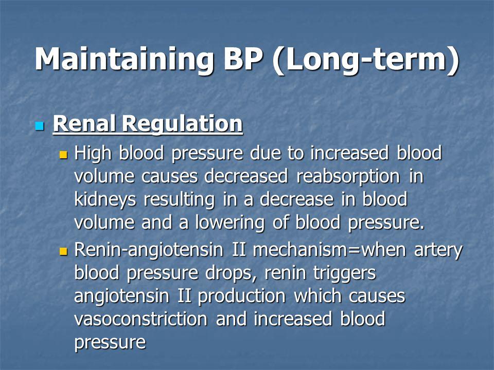 Maintaining BP (Long-term)