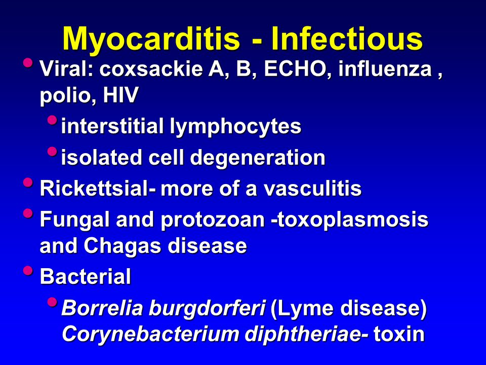 Myocarditis - Infectious