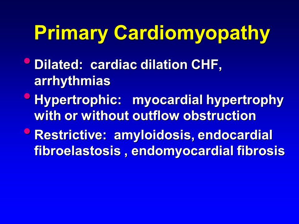 Primary Cardiomyopathy
