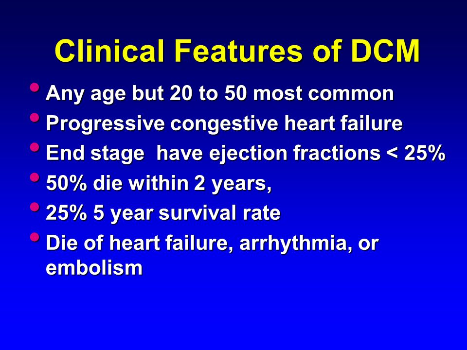 Clinical Features of DCM