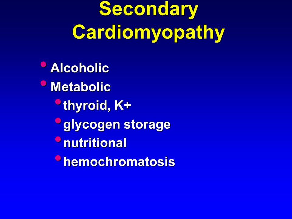 Secondary Cardiomyopathy