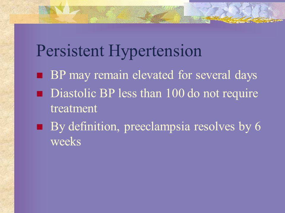 Persistent Hypertension