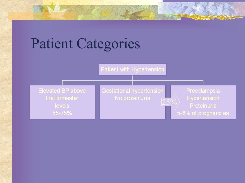 Patient Categories 25%