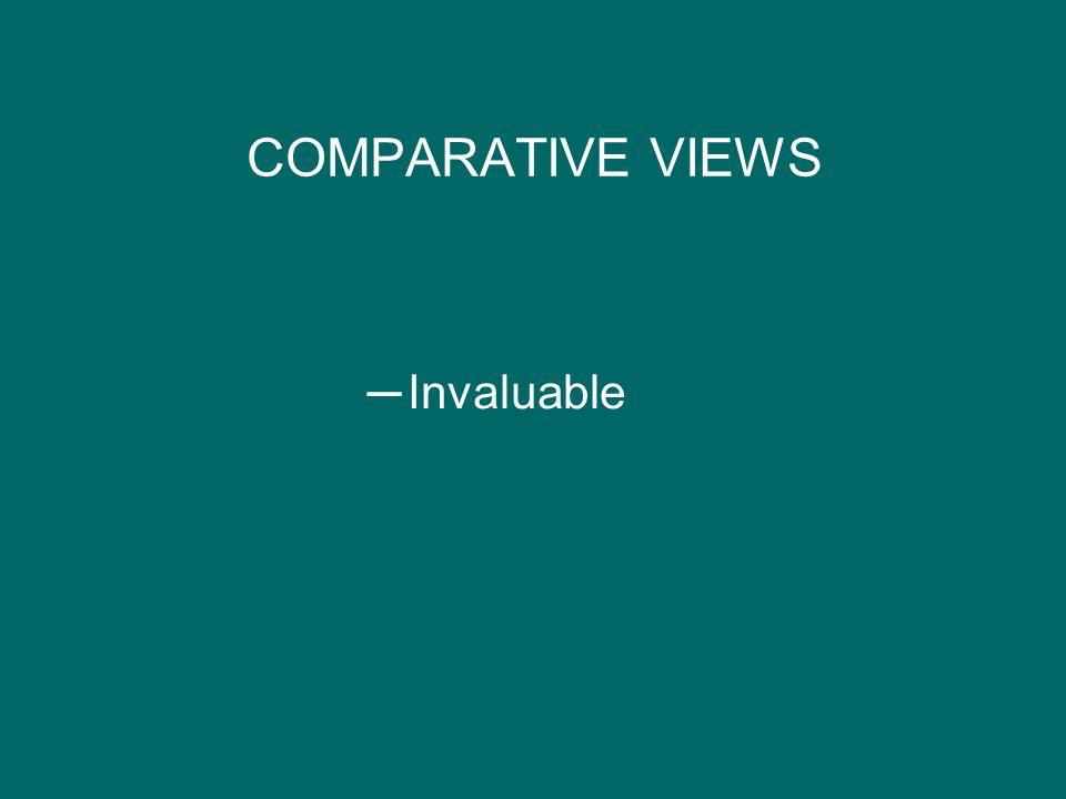 COMPARATIVE VIEWS Invaluable