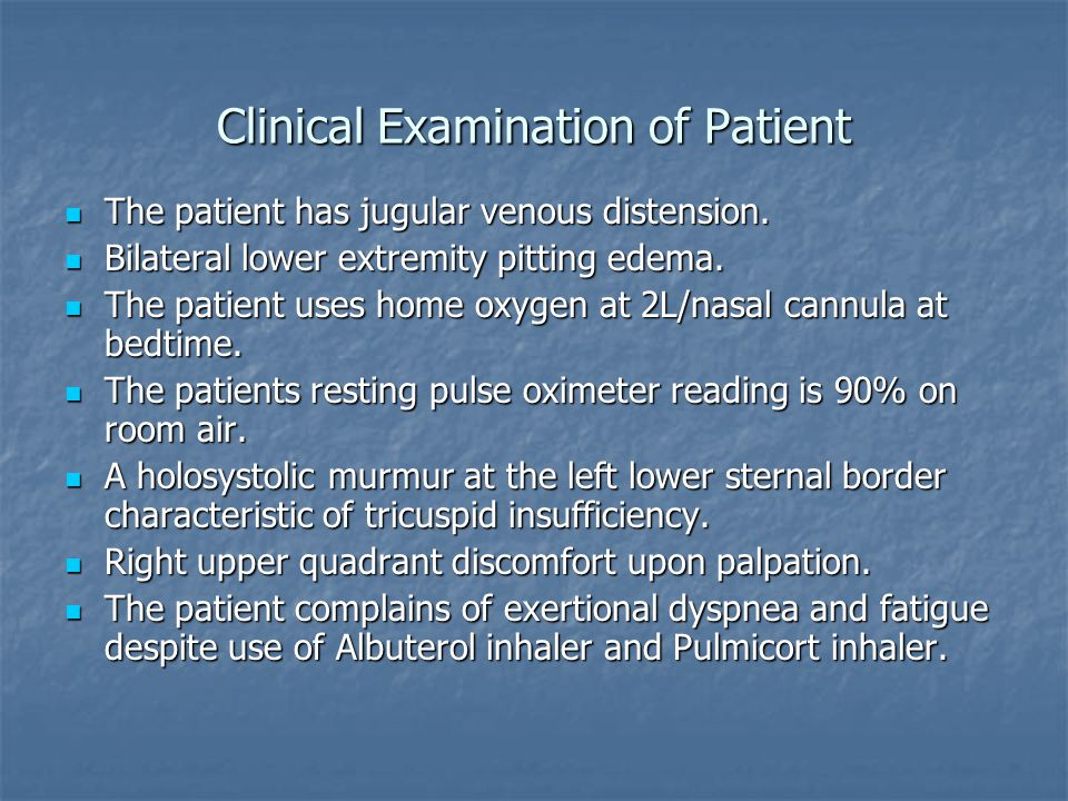 Clinical Examination of Patient