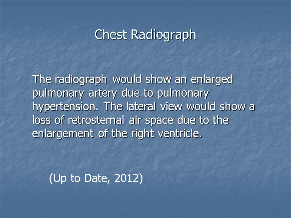 Chest Radiograph (Up to Date, 2012)