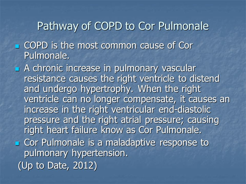 Pathway of COPD to Cor Pulmonale