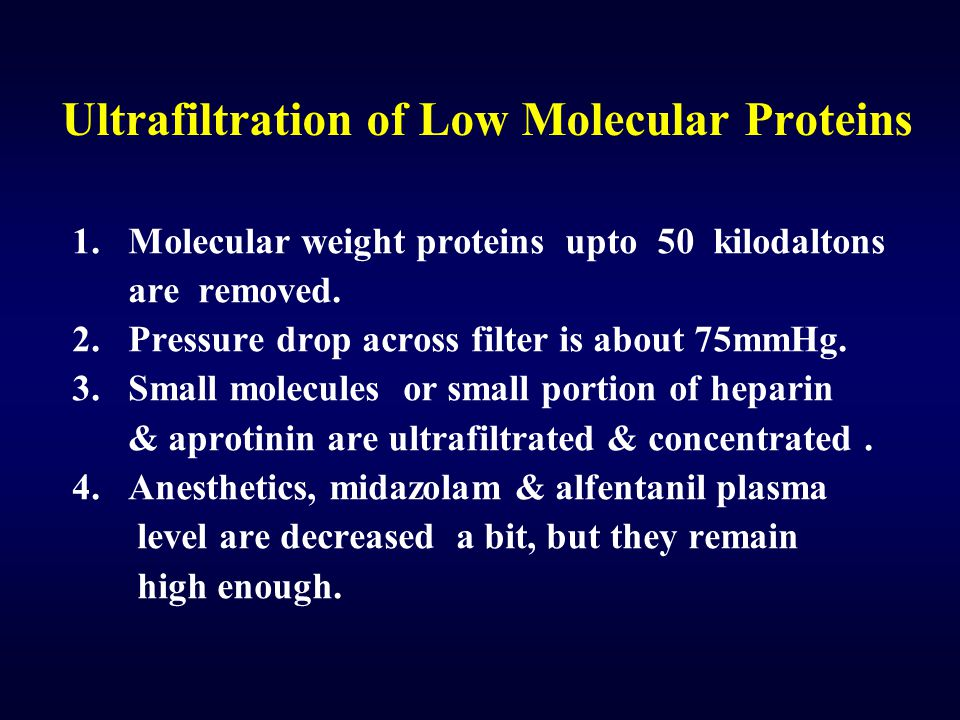 Ultrafiltration of Low Molecular Proteins
