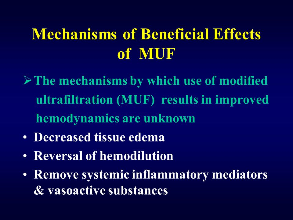 Mechanisms of Beneficial Effects of MUF