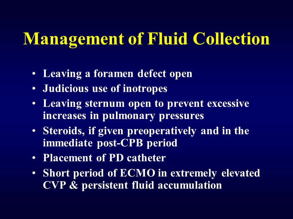Management of Fluid Collection