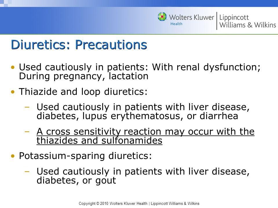 Diuretics: Precautions