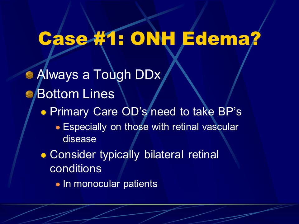 Case #1: ONH Edema Always a Tough DDx Bottom Lines