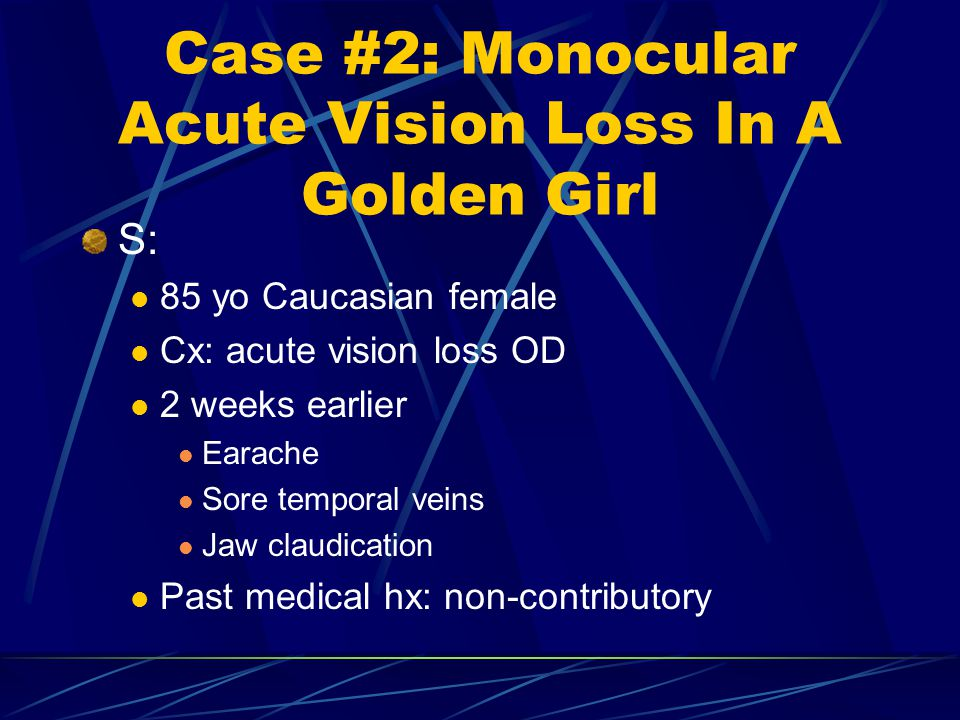 Case #2: Monocular Acute Vision Loss In A Golden Girl