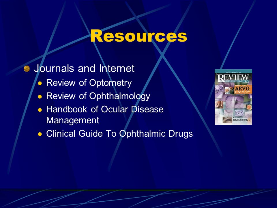 Resources Journals and Internet Review of Optometry