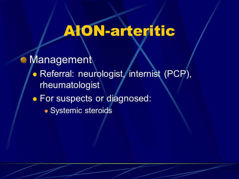 AION-arteritic Management