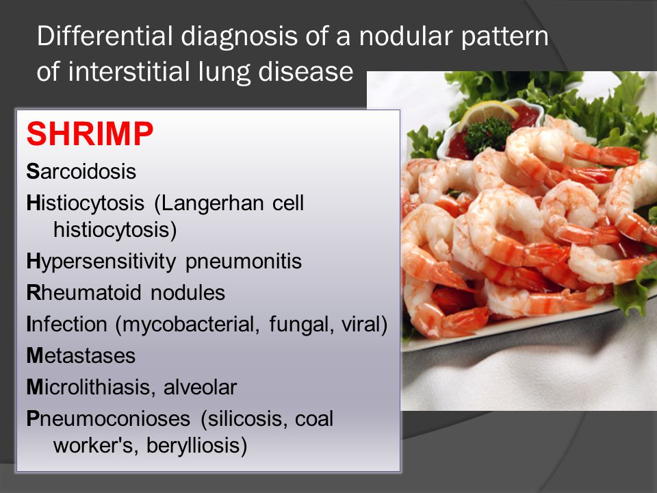 Differential diagnosis of a nodular pattern of interstitial lung disease