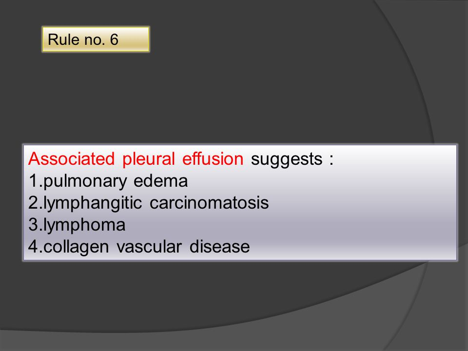 Associated pleural effusion suggests : 1.pulmonary edema
