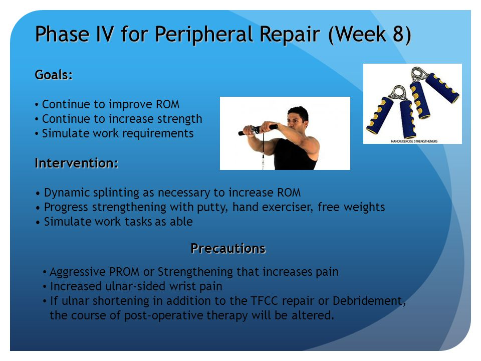 Phase IV for Peripheral Repair (Week 8)