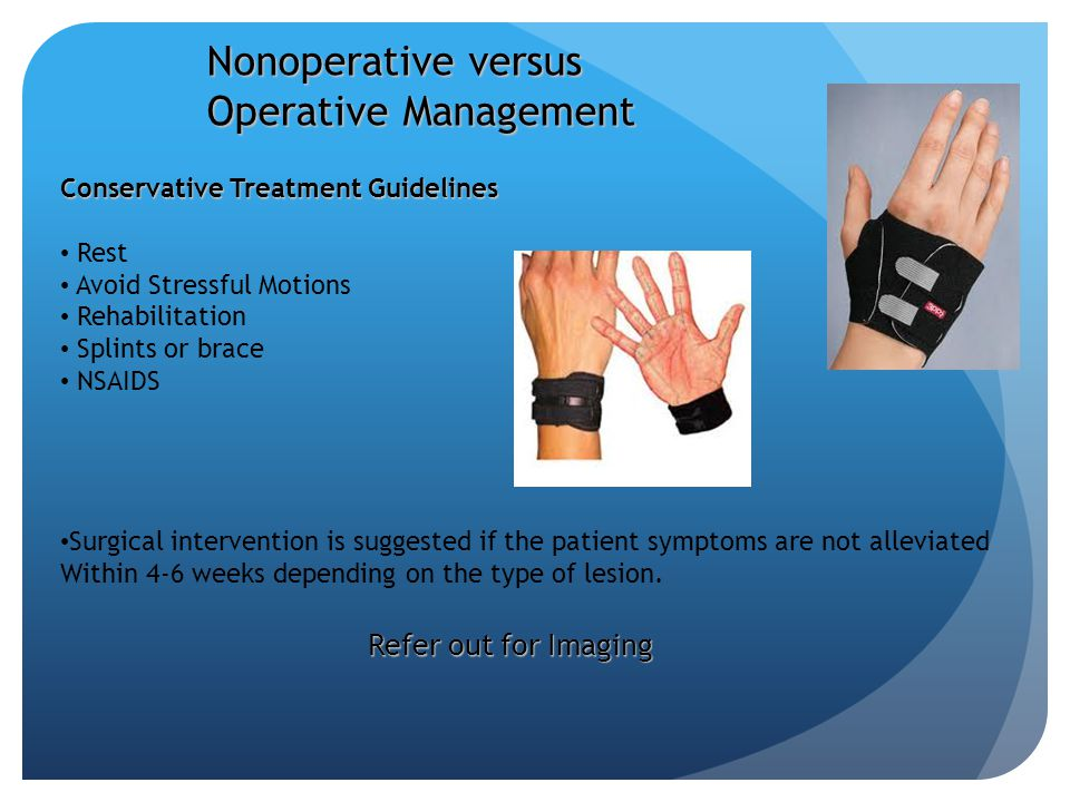 Nonoperative versus Operative Management