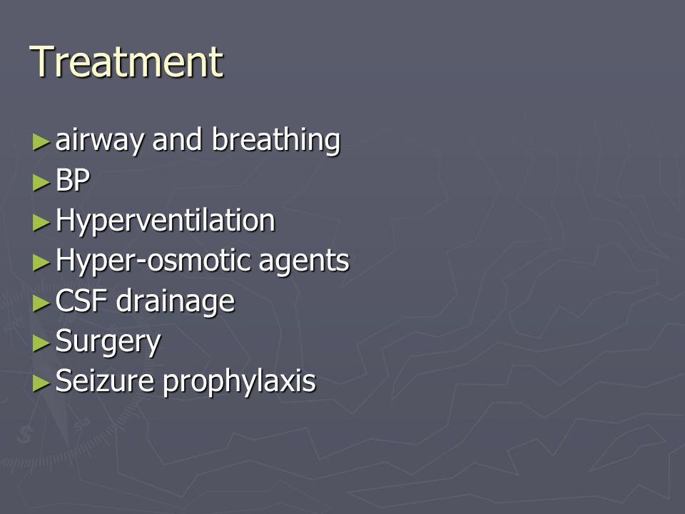 Treatment airway and breathing BP Hyperventilation