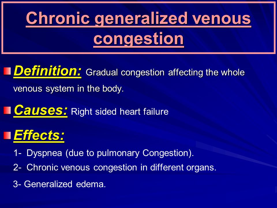 Chronic generalized venous congestion