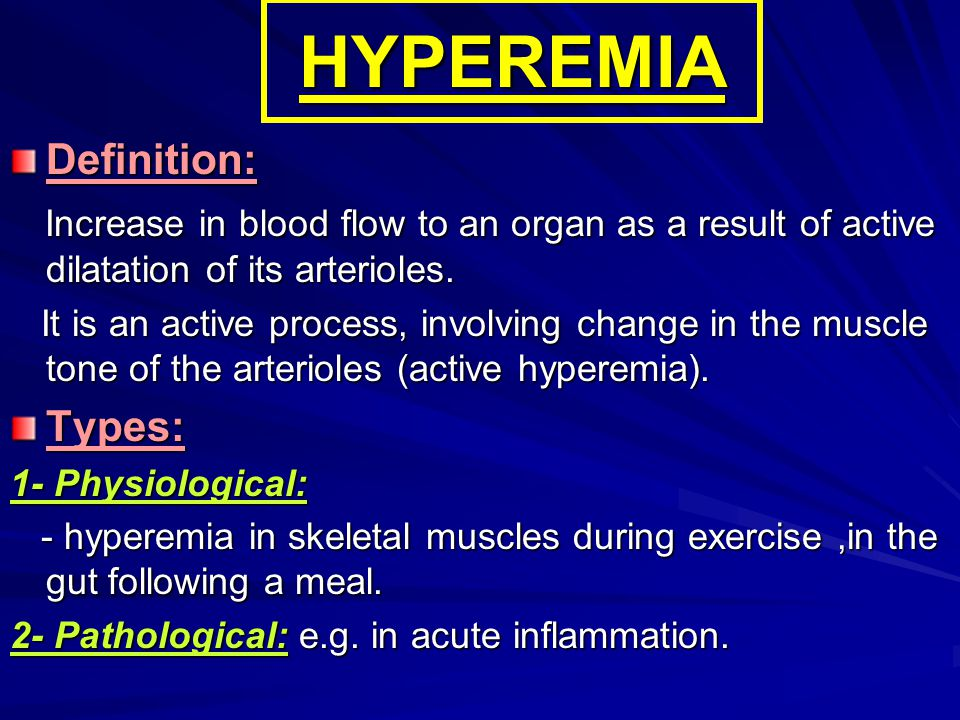 HYPEREMIA Definition: