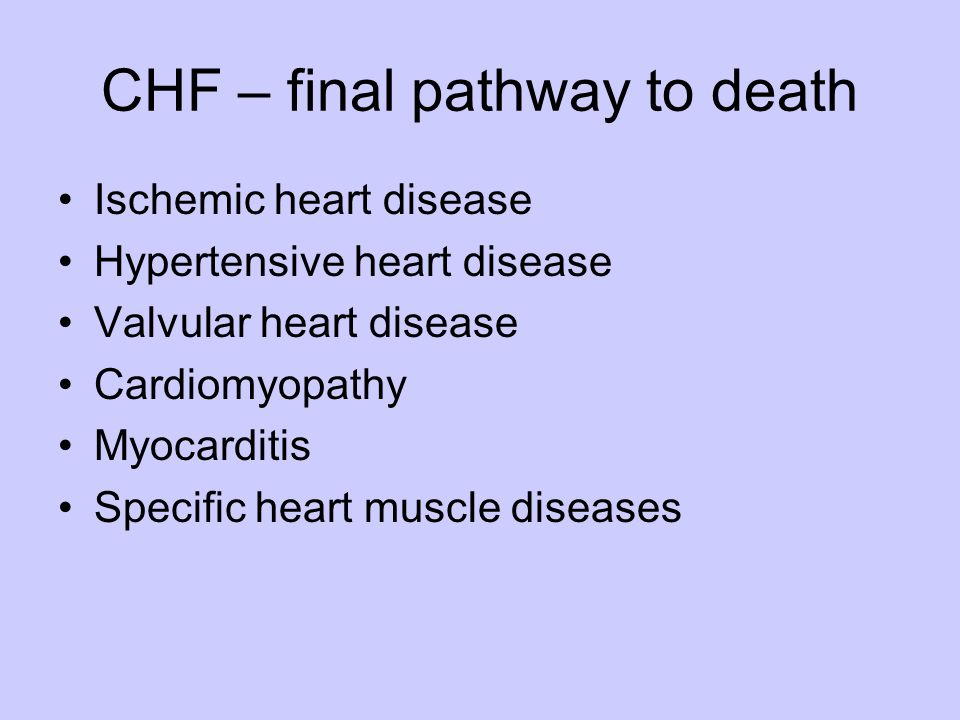 CHF – final pathway to death