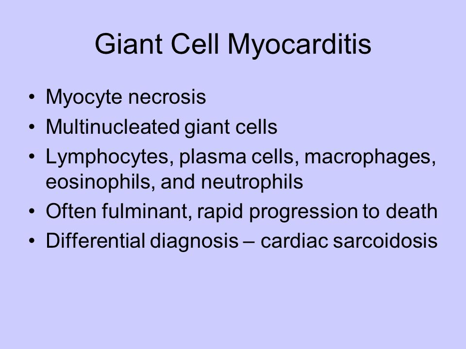 Giant Cell Myocarditis