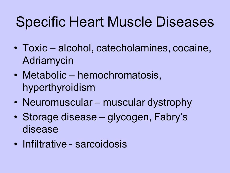 Specific Heart Muscle Diseases