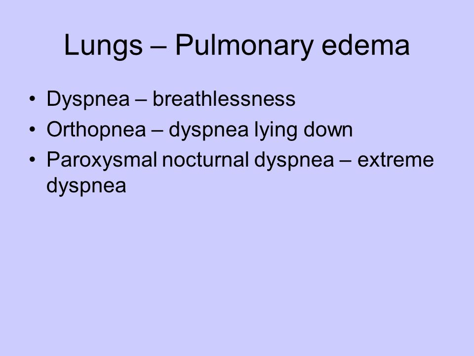 Lungs – Pulmonary edema