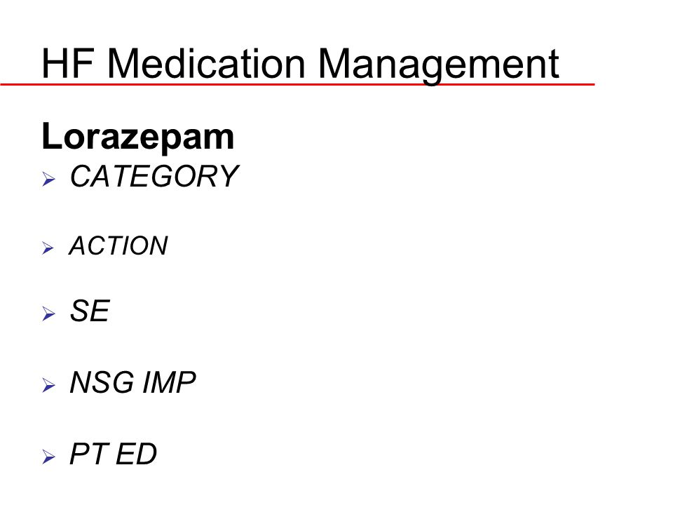HF Medication Management
