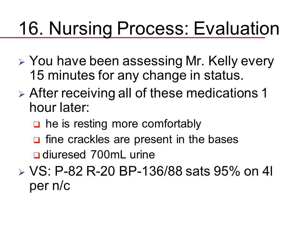 16. Nursing Process: Evaluation