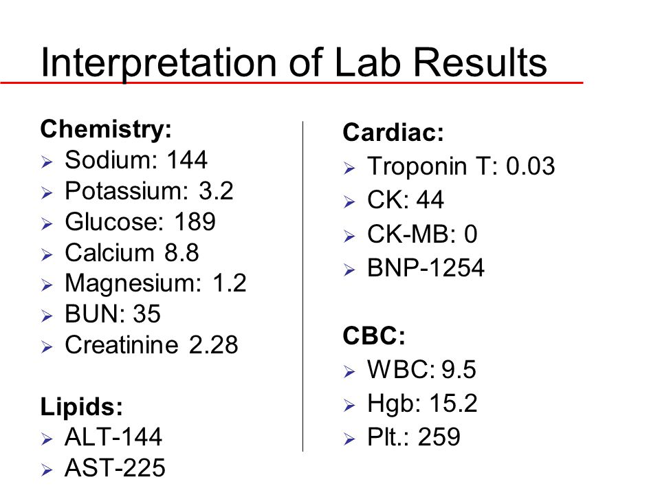 Interpretation of Lab Results
