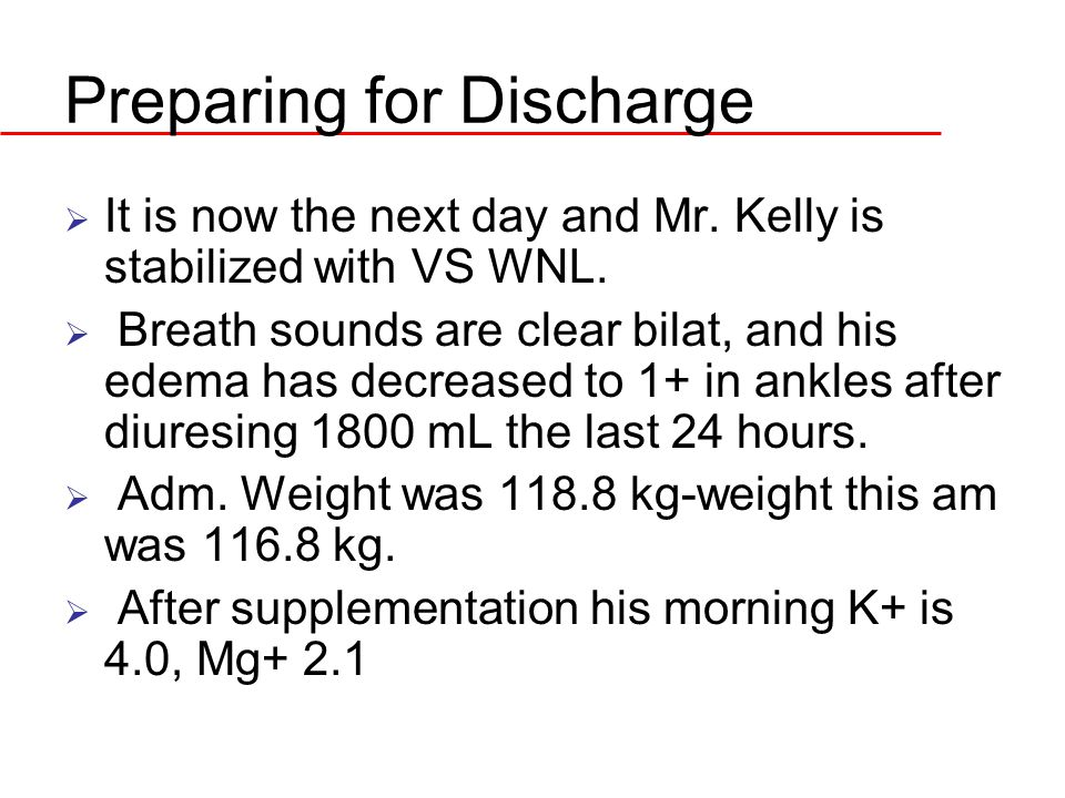 Preparing for Discharge