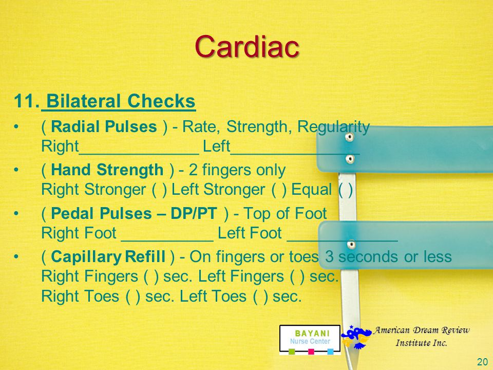 Cardiac Bilateral Checks