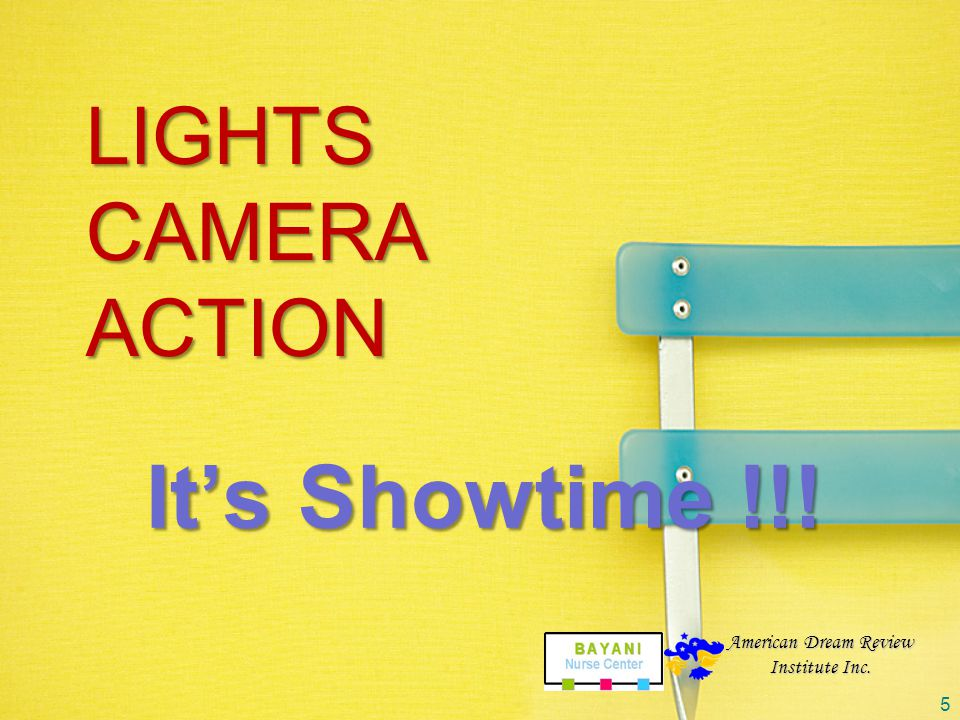 It's Showtime !!! Lights Camera action American Dream Review