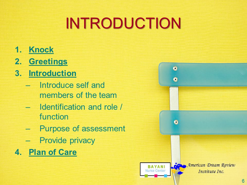 INTRODUCTION Knock Greetings Introduction