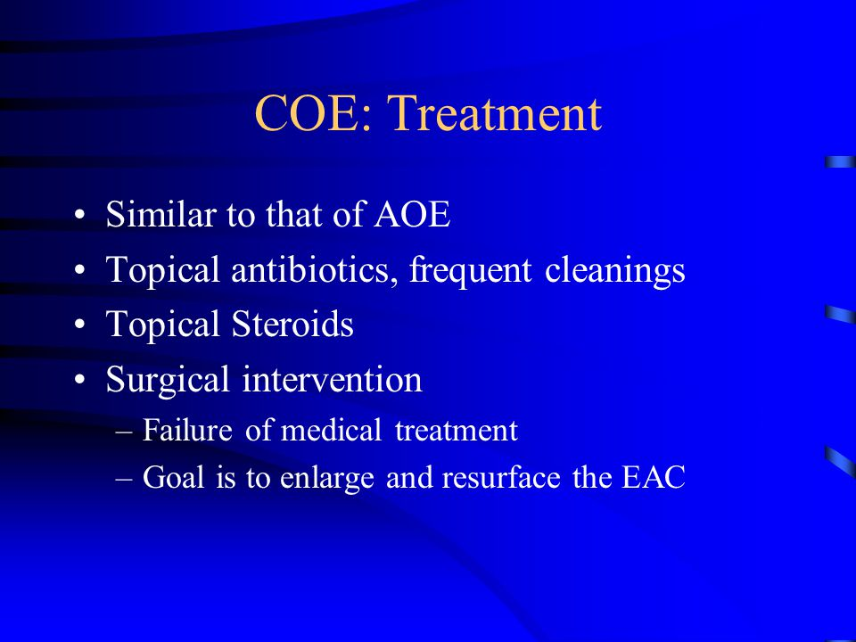 COE: Treatment Similar to that of AOE