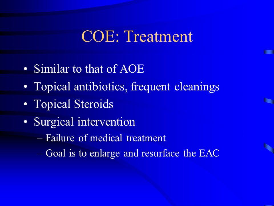 COE: Treatment Similar to that of AOE