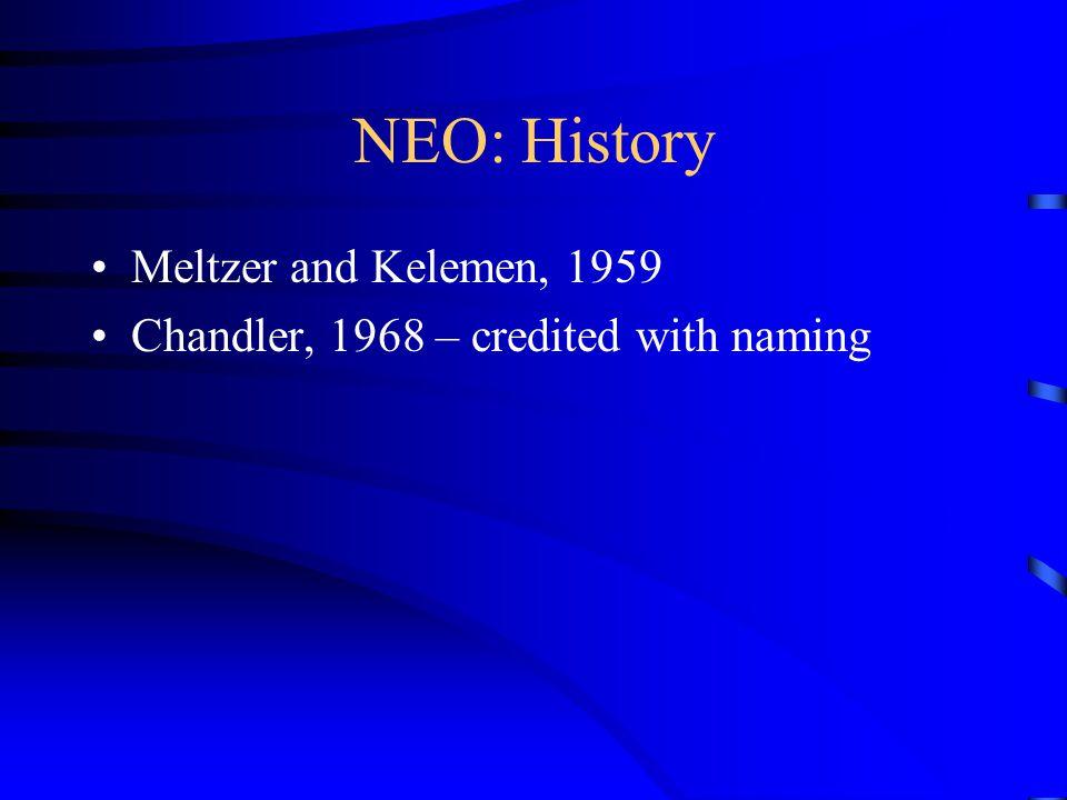 NEO: History Meltzer and Kelemen, 1959