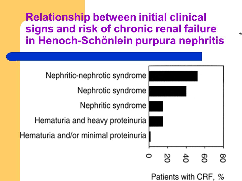 Relationship between initial clinical signs and risk of chronic renal failure in Henoch-Schönlein purpura nephritis