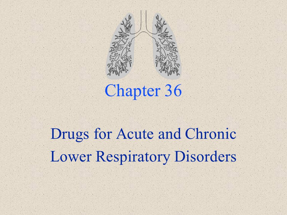 Drugs for Acute and Chronic Lower Respiratory Disorders